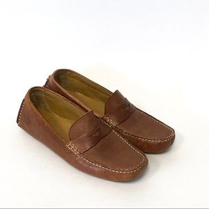COLE HAAN   Brown Leather Driving Moccasins Size 8